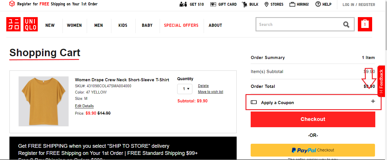How Do I Add A Promo Code To My Order Uq Us Uq Us Customer Service